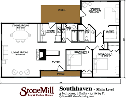 southaven log floor plan stonemill log u0026 timber homes