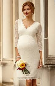 pregnancy wedding dresses lace maternity wedding dress ivory maternity wedding