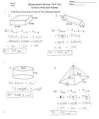 surface area and volume worksheets with answers worksheets