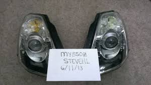 nissan 350z bi xenon headlights fs 06 bixenon headlights mint and evil eyelids evo r my350z