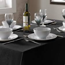 Black Linen Tablecloth Table Linen Quality Homewares And Accessories Terrys Fabrics