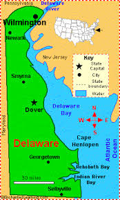 delaware road map usa delaware facts map and state symbols enchantedlearning