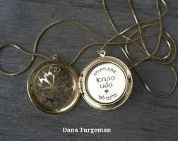 Personalized Photo Locket Necklace Hebrew Engraving Etsy
