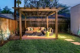 pergola with trellis rustic patio with fence u0026 exterior terracotta tile floors in