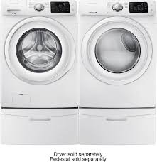 Samsung Blue Washer And Dryer Pedestal Samsung 4 2 Cu Ft 8 Cycle High Efficiency Front Loading Washer