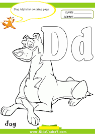 kids under 7 letter d worksheets and coloring pages