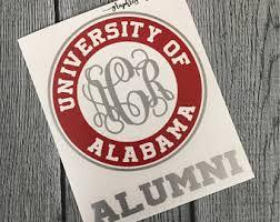 lsu alumni sticker baylor alumni decal monogrammed baylor