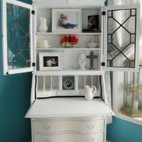 furniture white corner secretary desk with drawers and spacious