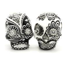 day of the dead cake toppers buy el dia de los muertos skull wedding cake topper a00123 black