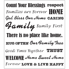 folkart words phrases family laser painting stencils 30740 the