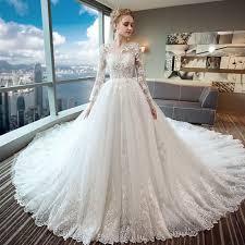 sle wedding dresses gorgeous wedding dress 2018 scoop lace applique flowers tulle