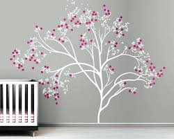 White Tree Wall Decal For Nursery Baby Tree Wall Decals Baby Nursery Best Baby Room With Crib