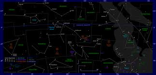Map Of Constellations The Position Of Venus In The Night Sky 2016 2017 Evening Apparition