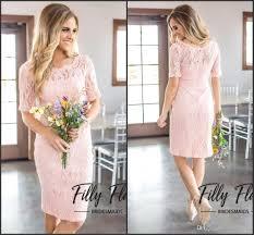 2018 country style bridesmaid dresses short sleeve vintage lace