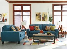 amazon com signature design by ashley sagen teal loveseat
