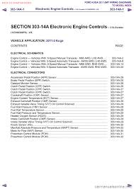 engine ford kuga 2011 1 g wiring diagram workshop manual