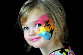 hawaiian face painting designs