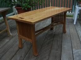 mission style coffee table finewoodworking