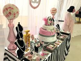 chanel baby shower modern chic chanel baby shower treat table baby shower ideas