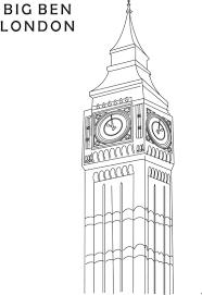 big ben coloring printable page for kids 1 london pinterest
