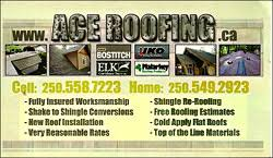 okanagan lake bc local roofing contractors business cards