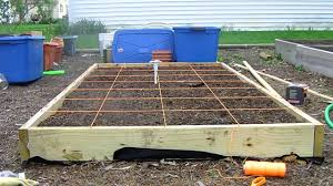 building the grid on your square foot garden youtube