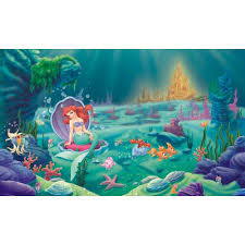 princess wall accents obedding com disney little mermaid wall murals chair rail
