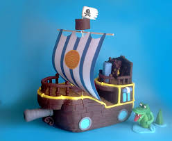 pirate ship cake fondant pirate ship cake topper bucky from jake and