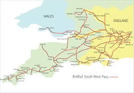 Eurail Map Britrail South West Map Jpg