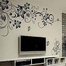 fleurs dans une chambre amovible stickers muraux fleurs mur etiquette mur mural maison