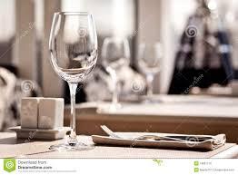 Dinner Table Fine Restaurant Dinner Table Place Setting Royalty Free Stock