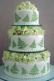 lovely green wedding cakes