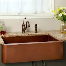 copper apron front sink 33 amelie copper farmhouse sink kitchen