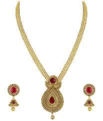 jhumki earring zaveri pearls gold non precious metal pendant necklace with jhumki