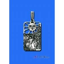 Wiccan Home Decor The Sun Small Tarot Pendant Sterling Silver Tarot Jewelry