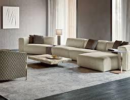 freud italian luxury designer modular sofa upholstered in beige
