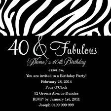 funky birthday 40 square w magnet in black invitation