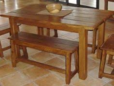 Rustic Kitchen Table With Benches That Can Slide Underneath - Benches for kitchen table