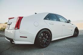 white cadillac cts black rims mod bargains cadillac cts v with 20 forgestar cf10 wheels forgestar