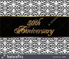 50th Wedding Anniversary Invitation Cards 50th Anniversary Invitation Card Illustration