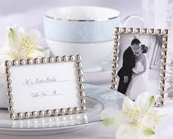 picture frame wedding favors silver pearls mini photo frame