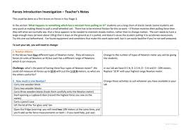 forces introduction investigation ks3 by pand teaching resources
