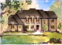 French Chateau House Plans by Esperance Meadowbrook Series Southeast Michigan Homes