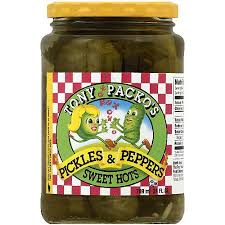 packo pickles tony packo s sweet hot pickles and peppers 24 oz pack of 6