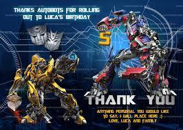 optimus prime birthday party invitation optimus prime party bumblebee invite