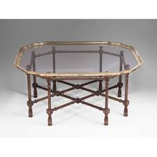 Vintage Bamboo Chairs Vintage Baker Furniture Faux Bamboo Coffee Table With Glass Top