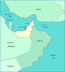 map of oman and uae map of united arab emirates