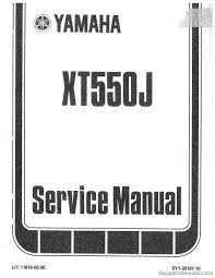 1982 yamaha xt550 motorcycle service repair maintenance manual ebay