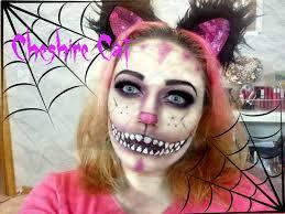 Cat Faces Halloween Makeup by Cheshire Cat Halloween Makeup Tutorial Youtube
