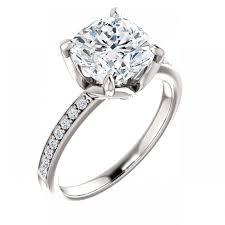 cushion engagement rings tulip cushion engagement ring pavé engagement rings